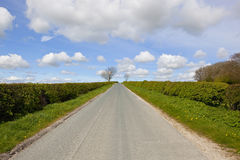 Straight country road Royalty Free Stock Photos