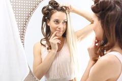 Straight or curly? Royalty Free Stock Image