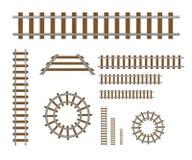 Straight rails vector royalty free illustration