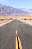 Straight Death Valley Road Royalty Free Stock Photos