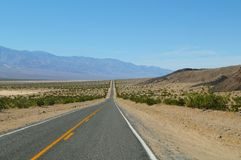 Straight Desert Road Stock Photo