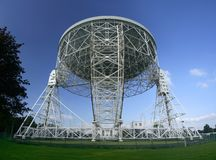 Straight on dish. The Lovell Radio Telescope seen from straight on stock image