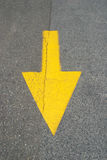 Straight down arrow Stock Image
