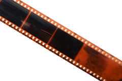 Straight film strip isolated Stock Photography