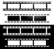 Straight film strips. Photography, media concept icon Stock Images