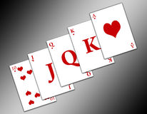Straight Flush (01) Royalty Free Stock Image