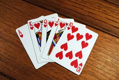 Straight Flush Stock Photo