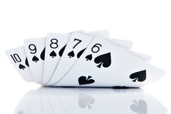 Straight Flush. Six to ten stock images