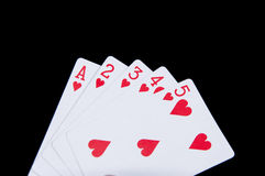 Straight flush Stock Photos