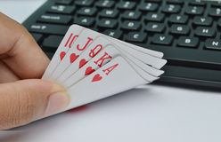 straight flush Stock Photography