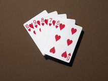 Straight flush Royalty Free Stock Photography
