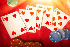 Straight Flush Royalty Free Stock Image