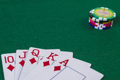 Straight flush of diamond Royalty Free Stock Images