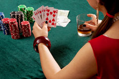 Straight flush poker Royalty Free Stock Images