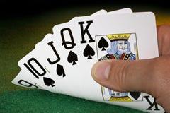 Straight Flush - Poker - Winning Hand stock images