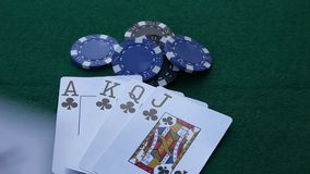 Straight Flush stock video footage