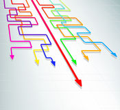 Straight forward. Concept of moving straight forward and winning stock illustration