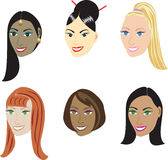 Straight Hairstyles Stock Photography
