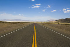 Straight Highway. In Nevada / USA Royalty Free Stock Photo