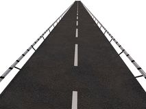 Straight highway or road. High angle illustration of straight highway or road receding into distance Royalty Free Stock Photography