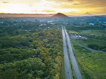 Straight highway road Stock Photography