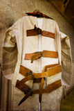 Straight Jacket. Vintage straight jacket used on convicts in the 1800's stock photo
