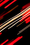 Straight light trails. Abstract background with light trails in colors Royalty Free Stock Image