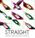 Straight lines abstract vector background set Royalty Free Stock Image