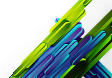 Straight lines background. Straight blue and green lines vector abstract background Royalty Free Stock Images