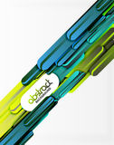 Straight lines background. Straight blue and green lines vector abstract background Royalty Free Stock Image