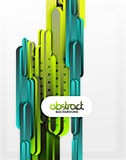 Straight lines background. Straight blue and green lines vector abstract background Stock Image