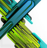 Straight lines background. Straight blue and green lines vector abstract background Stock Photography