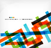 Straight lines business colorful template Stock Photography