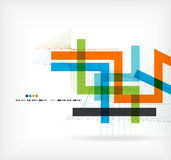 Straight lines business colorful template Royalty Free Stock Photography