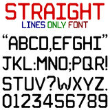 Straight Lines Font Stock Photos