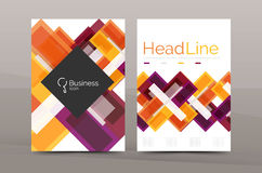 Straight lines geometric business report templates Royalty Free Stock Photo