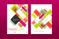 Straight lines geometric business report templates. Vector abstract background set Stock Photography