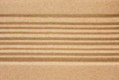 Straight lines in the sand Stock Images