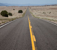 Straight, Long, Empty Road Stock Photos