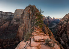 The Straight and Narrow. Of Angel`s Landing Stock Images