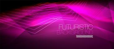 Straight neon lines Stock Image