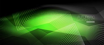 Straight neon lines Royalty Free Stock Photo