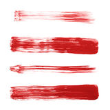 Straight oil paint brush strokes. Handmade straight oil paint brush strokes isolated over the white background as an element of backdrop design Royalty Free Stock Image