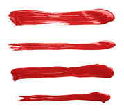 Straight oil paint brush strokes Stock Photography