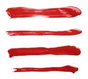 Straight oil paint brush strokes Stock Photography