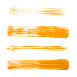 Straight oil paint brush strokes Royalty Free Stock Photography
