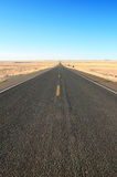Straight open road Royalty Free Stock Image