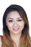 Straight On Portrait Attractive Asian American Woman Stock Photos