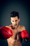 Straight punch Stock Photos