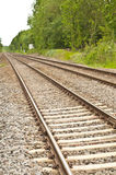 Straight rail tracks Royalty Free Stock Photos
